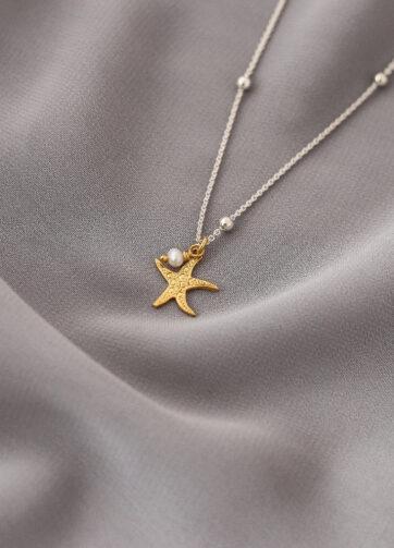 estrella de mar joyeria collar plata alfonso sanchez oro