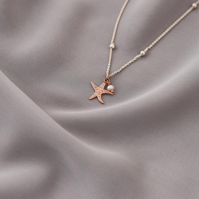 estrella de mar joyeria collar plata alfonso sanchez oro rosa